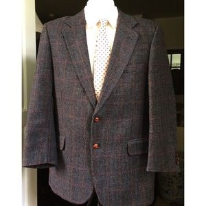 Yorkshire Square Men's 39R Wool Sports Coat Grey